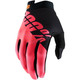 Black/Fluorescent Red I-Track Gloves