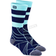 Navy Fracture Athletic Socks