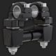 Black Anti-Vibe 2 in. Risers for 7/8 in. or 1 1/8 in. Handlebar - 1R-AV2SEK