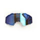 Dark Smoke Blue Mirror Replacement Double Lens for Viper Goggles - 3981-000-000-016