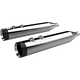Chrome 4.50 in. HP-Plus Slip-On Mufflers w/Black End Turbine Caps - 202795
