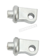 Silver Splined Front Peg Adapters - 8897