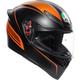 Black/Orange K1 Warmup Helmet