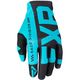Black/Mint Slip-On Lite MX Gloves