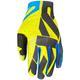 Hi-Vis/Black/Blue Slip-On Lite MX Gloves
