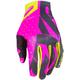 Elec Pink/Black/Hi-Vis Slip-On Lite MX Gloves