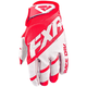 Red/White Clutch Strap MX Gloves