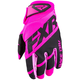 Elec Pink/Black Clutch Strap MX Gloves