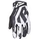 Black/White Factory Ride Adjustable MX Gloves