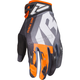 Black/Orange/Gray/Charcoal Factory Ride Adjustable MX Gloves