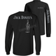 Black Logo Bottle Back Long Sleeve Shirt