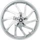 21 in. x 3.5 in. Hurricane Precision Cast 3D One-Piece Wheel w/o ABS - 3D-HUR213CH