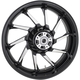 Black Rear 18 in. x 5.5 in. Hurricane Precision Cast 3D One-Piece Wheel - 3D-HUR185BC-ABS