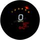 3 3/8 in. Black MLX-3012 Series Speedometer Gauge - MLX-3012-K