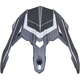 Frost Gray/Carbon Peak for the FX-39 Helmet - 0132-1271