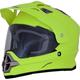 Matte Neon Yellow  FX-39 Dual Sport Series 2 Helmet