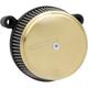 Black/Brass Big Sucker Stage 1 Carbon air Filter Kit w/Standard Air Filter & Billet Cover - 18-758