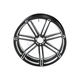 Black 7 Valve 18 x 5.50 in. Front  Forged Billet Wheel - 10301-203