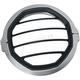 Silver 5 3/4 in. Dillinger Headlight Trim Ring - 6687