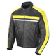 Black/Yellow Old School 2.0 Leather Jacket