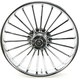 Front 21 in. x 3.5 in. One-Piece Illusion Forged Aluminum Wheel w/o ABS - 21350-9031-126C