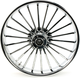 Front 21 in. x 3.5 in. One-Piece Illusion Forged Aluminum Wheel w/ABS - 21350-9031A126C