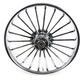 Front 21 in. x 3.5 in. One-Piece Illusion Forged Aluminum Wheel w/ABS - 213509031A14126