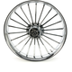 Front 23 in. x 3.75 in. One-Piece Illusion Forged Aluminum Wheel w/o ABS - 23375903114126C