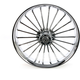 Front 23 in. x 3.75 in. One-Piece Illusion Forged Aluminum Wheel w/ABS - 233759031A14126