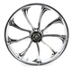 Front 21 in. x 3.5 in. One-Piece Illusion Forged Aluminum Wheel w/o ABS - 21350903114124C