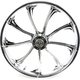 Front 21 in. x 3.5 in. One-Piece Illusion Forged Aluminum Wheel w/ABS - 21350-9031A-124