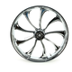 Front 23 in. x 3.75 in. One-Piece Illusion Forged Aluminum Wheel w/o ABS - 23375-9031-124C