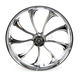 Front 23 in. x 3.75 in. One-Piece Illusion Forged Aluminum Wheel w/o ABS - 23375903114124C