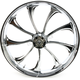 Front 23 in. x 3.75 in. One-Piece Illusion Forged Aluminum Wheel w/ABS - 23375-9031A124C
