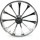 Front 21 in. x 3.5 in. One-Piece Exile Forged Aluminum Wheel w/o ABS - 21350903114122C