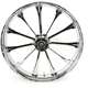 Front 23 in. x 3.75 in. One-Piece Exile Forged Aluminum Wheel w/o ABS - 23375903114122C