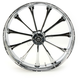 Front 23 in. x 3.75 in. One-Piece Exile Forged Aluminum Wheel w/ABS - 23375-9031A-122