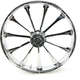 Rear 18 in.  x 5.5 in. One-Piece Revolt Forged Aluminum Wheel w/o ABS - 18550-9210-124C