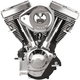 Wrinkle Black/Chrome V111 Complete Assembled Engine - 106-5704