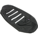 Black/White Gripper Ribbed Seat Cover - 0821-2884