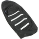 Black/White Gripper Ribbed Seat Cover - 0821-2886