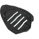 Black/White Gripper Ribbed Seat Cover - 0821-2887