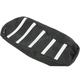 Black/White Gripper Ribbed Seat Cover - 0821-2889