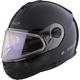 Black Strobe Modular Helmet w/Electric and Single Lens Shields