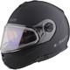 Matte Black Strobe Modular Helmet w/Electric and Single Lens Shields
