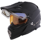 Matte Black Pioneer V2 Helmet w/Electric and Single Lens Shields