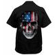 Star N Stripes Skull Printed Work Shirt