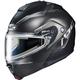 Semi-Flat Black/Gray IS-Max 2 Dova MC-5SF Snow Helmet w/Electric Shield