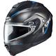 Semi-Flat Black/Blue IS-MAX 2 Dova MC-2SF Snow Helmet w/Dual Lens Shield
