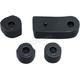 Gloss Black Driver Floorboard Spacers - 7508